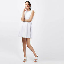 Topshop White TEXTURED Skater Dress   Size 6 8 10 12 14 16 -   RRP £56