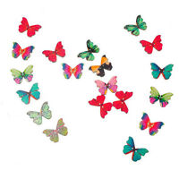 50X Mixed Color Butterfly Insect Wooden Buttons 2 Holes Scrapbook Dz