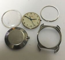 Vintage Bulova Cal. 11BLC Manual Wind Watch Movement Dial Crystal Case For Parts