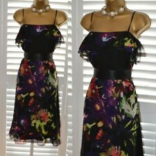 ~ COAST ~ Gorgeous Silk Ruffle Dress Size 14 Suit Mother of the Bride Wedding