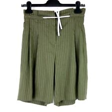 Marc Cain Collections Ladies Shorts Size N1 34 Green Paperbag Np 229 New