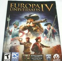 Europa Universalis IV  100 Years War strategy PC MAC DVD Game New Free shipping