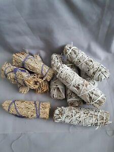 Sage smudge stick; California white sage; blue sage; smudging; cleansing