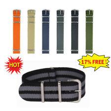 Watch Strap Nylon Men-Wrist 18mm 20mm 22mm Smart Military-Pin Strap