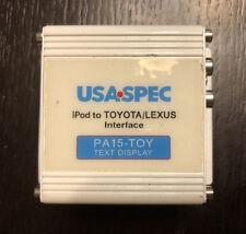 USA SPEC PA15-TOY Text Display iPod to Toyota / Lexus Interface