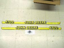 John Deere 4700 hood trim decals  LVU10328, LVU10342