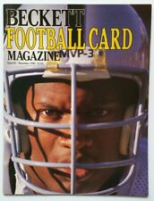 FIRST ISSUE Beckett Football Card Price Guide Magazine Bo Jackson BRAND NEW