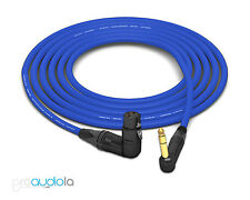 Mogami 2549 Cable | Neutrik Gold 90º XLR-F to 90º TRS | Blue 1.5 Feet 1.5 ft.