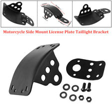 Motorcycle Side Mount License Plate Taillight Bracket Fit for Honda Yamaha BMW