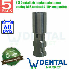 X 5 Dental lab Implant abutment analog MIS conical C1 NP compatible