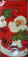 Vintage Santa Claus Hi, Merry Christmas Large Poster Print 6' x 3' Door Cover