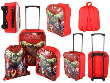 DISNEY KIDS BOYS AVENGERS CABIN TROLLEY CASE SET WHEELED SUITCASE SCHOOL BAG