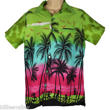 HAWAIIAN SHIRT PARTY FANCY DRESS S XL XXL BEACH PALM TREE SHIRT STAG PARTY LARGE