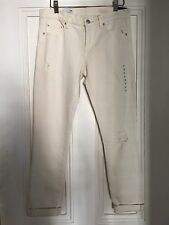 SIZE 26 GAP CREAM MID RISE STRETCH JEANS & RIPS AUTUMN/WINTER TOWIE NEW RRP £50