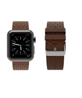 Brown Genuine Leather Strap Band For Apple Watch 42/44mm Series 1,2,3,4,5
