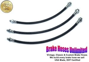 BRAKE HOSE SET Hudson Hornet Custom & Custom Six 1955 1956 1957