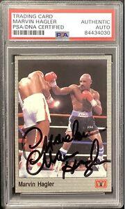 Marvelous Marvin Hagler Signed 1991 All World #21 Card Boxing Auto HOF PSA/DNA