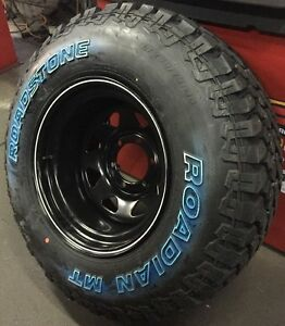 """GECKO STEEL BLACK 16""""X10"""" NEW WHEELS AND TYRES SUX 4X4 OFFROAD"""