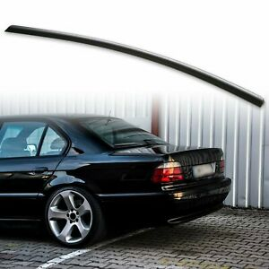 Fyralip Rear Trunk Lip Spoiler For BMW 7 Series E38 Unpainted Matte Black