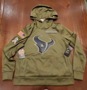 Nike Houston Texans Salute To Service Hoodie Military On Field Womens Large NWT