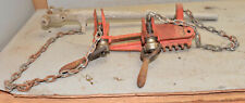 Ridgid Chain Vise For Soil Pipe Vintage Assembly Tool C 1070 Plumbing Parts Lot