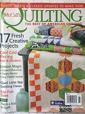 McCalls Quilting Magazine July/Aug 2014 Happy Hexies Fast Fun Totes