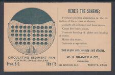 US Sc UY1 Illustrated Advertising Card, Cramer Circulating Sediment Pan Boilers