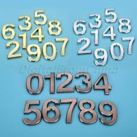 Hotel House Door Car Address Plastic ABS 0-9 Arabic Number 7cm Self Adhesive