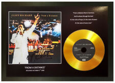 More details for cliff richard 'from a distance' signed gold disc collectable memorabilia gift