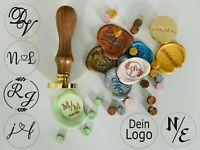 Siegel mit eigenem Logo, personalisiertes Siegel, Stempel Wachssiegel Hochzeit