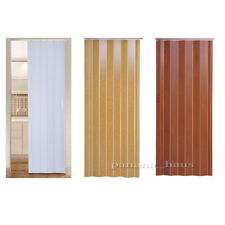 NEW Plastic Folding Door PVC Gloss Washable Doors Sliding Panel Divider UK