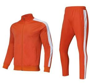 New Spring/Fall Men Sport Gym Track Suit Football Soccer Training Jacket+ Pants