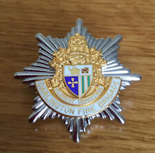 An old, Darlington   Fire Brigade, cap badge.