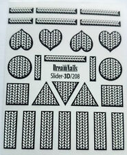 3D Volume Ornaments Sweater Design Water Decals Stickers  Nail Art 3D-208