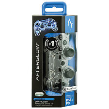 Lot of 2: PDP Afterglow Wireless Controller for PS3 & PC - Blue (064-015-NA-BL)