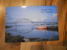 Old Vintage Postcard Miramichi River New Brunswick Canada Bridge Boat Photo Stan