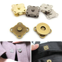 New 10pcs Sew On Magnetic Bag Clasps Fastener Purse Snaps DIY Sewing Crafts