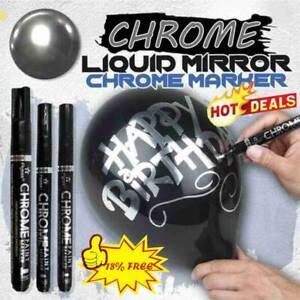 0.7/1.0/3.0mm Silver Art Liquid Mirror Chrome Marker DIY 1pcs