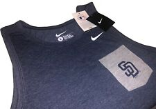 Nwt Men's Nike San Diego Padres Pocket Tank Top Regular Fit Blue/Gray Large Med