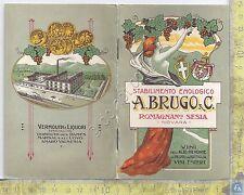 Catalogo - Enologia - Vini - A. Brugo - Romagnano Sesia - 1926