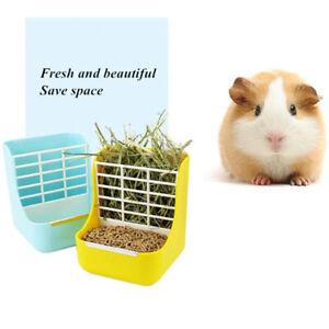 Pet Hay Rack Food Bin Feeder Dispenser Bowl For Rabbit Guinea Pig Chinchilla