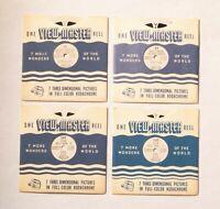Vintage Viewmaster Reels - Sawyer's Utah Series 1948: 16, 17, 141, 142 - Fine