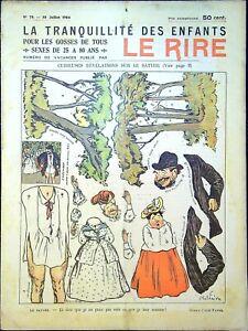 Le RIRE N°78 du 30 Juillet 1904 - La Tranquillité des enfants - ( Carte postale)