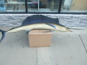 "100"" - Vintage Sailfish Marlin Single Sided Fish Mount Replica   Displayed Cond."