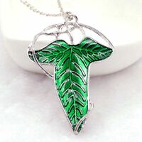 1PC Vintage Green Leaf Elven Pin Brooch Lord of The Rings Pendant Necklace Gifts