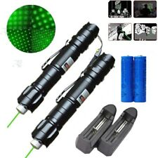 2x 990Miles 532nm Green Laser Pointer Pen Visible Lazer 2In1 Star Beam&Charger
