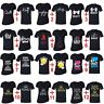 COUPLES MATCHING Shirts Queen King Matching Couple Vneck + Crewneck T-shirts Blk