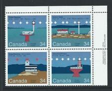 1985 CANADA Lighthouses Block MNH (Scott 1066a)