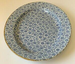Antique Royal Worcester Blue Floral Large Oval Serving Platter