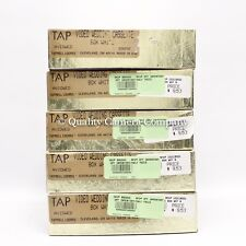 LOT OF 5 TAP Wedding VHS Cases AVIDWED WHITE EMBOSSED BOOK STYLE STORAGE - NOS